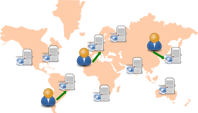 Un CDN está distribuido geográficamente